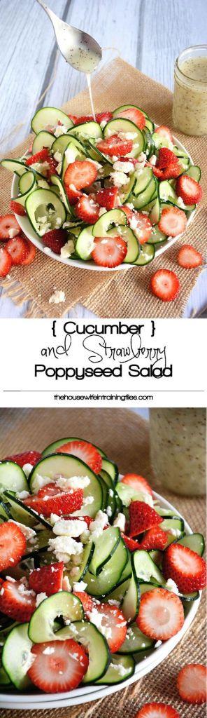Strawberry,Cucumber Salad